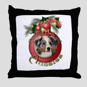 Christmas - Deck the Halls - Aussies Throw Pillow