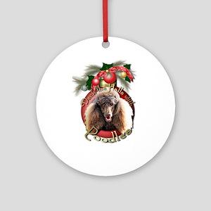Christmas - Deck the Halls - Poodles Ornament (Rou