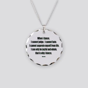 Why I Dance Necklace Circle Charm
