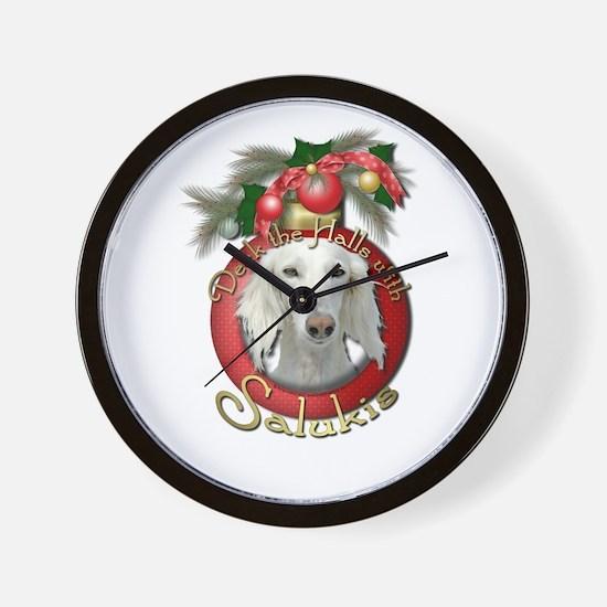 Christmas - Deck the Halls - Salukis Wall Clock