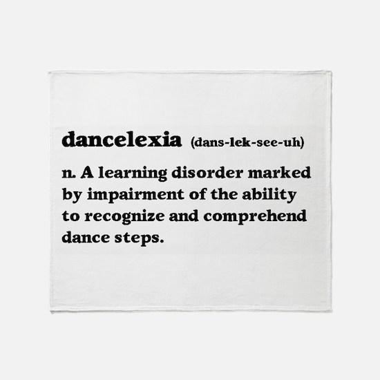 Dancelexia Throw Blanket