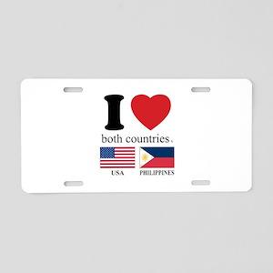 USA-PHILIPPINES Aluminum License Plate