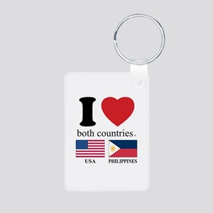 USA-PHILIPPINES Aluminum Photo Keychain