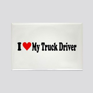 I Heart My Truck Driver Rectangle Magnet