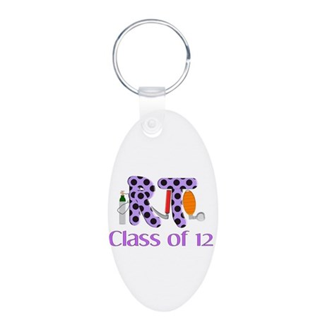 Respiratory Therapy 9 Aluminum Oval Keychain
