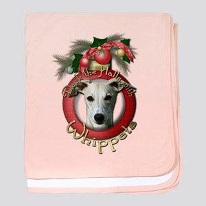 Christmas - Deck the Halls - Whippets baby blanket
