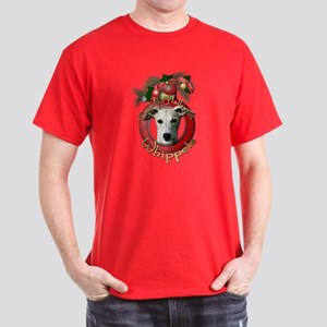 Christmas - Deck the Halls - Whippets Dark T-Shirt
