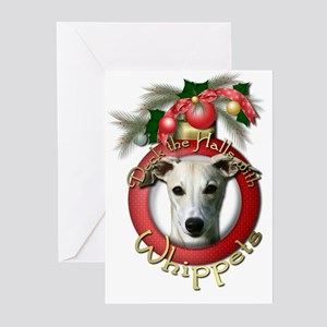 Christmas - Deck the Halls - Whippets Greeting Car