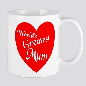 Worlds Greatest Mum Heart Mugs