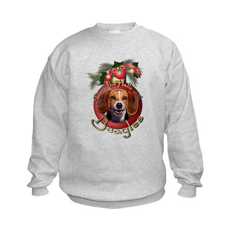 Christmas - Deck the Halls - Beagles Kids Sweatshi