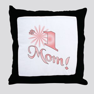 Number one mom Throw Pillow