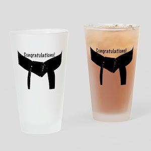 Black Belt Congrats Drinking Glass