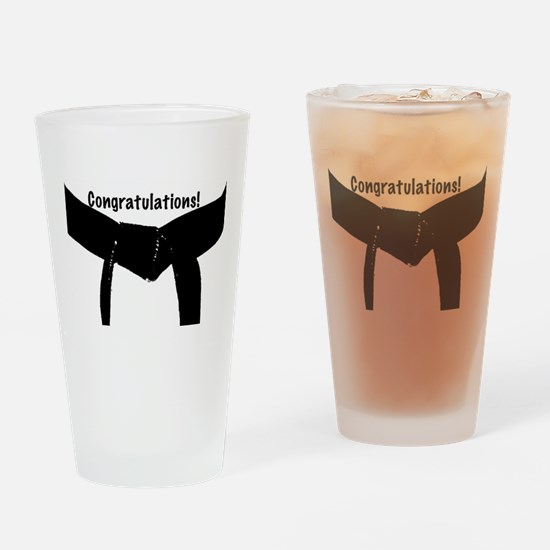 Black Belt Congrats Drinking Glass