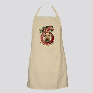 Christmas - Deck the Halls - Airedales Apron