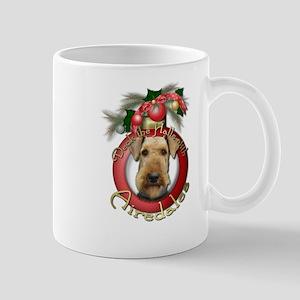 Christmas - Deck the Halls - Airedales Mug