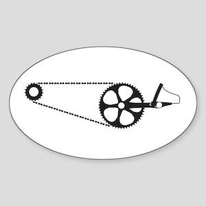 Crank hard Sticker (Oval)