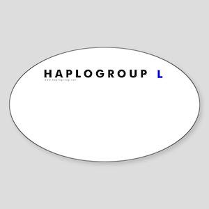 Haplogroup L Oval Sticker