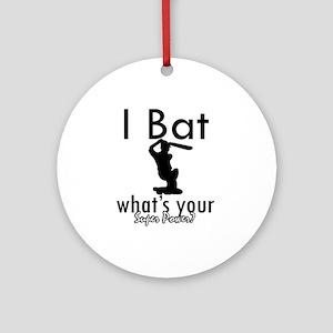 I Bat Ornament (Round)
