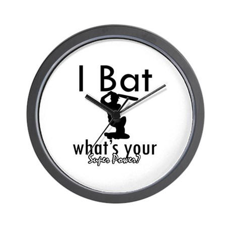 I Bat Wall Clock By Mmam