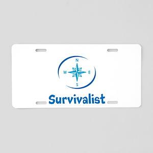 Survivalist Aluminum License Plate