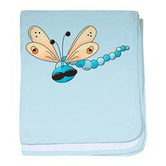 Cool Blue Dragonfly baby blanket