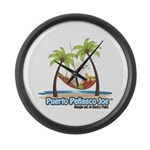 Cool Mexican T-Shirts Large Wall Clock