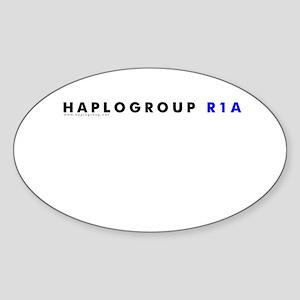 Haplogroup R1A Oval Sticker