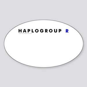 Haplogroup R Oval Sticker