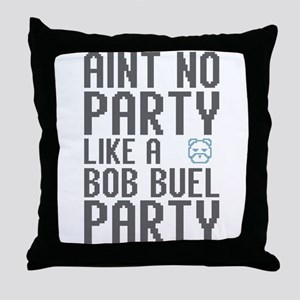 Aint No Party (Pixelated Bear Throw Pillow
