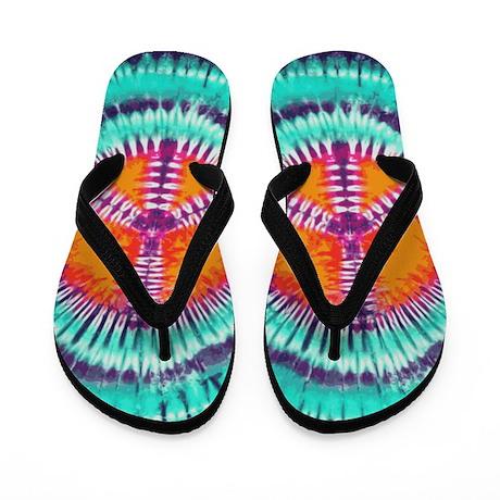 Blue Peace Flip Flops