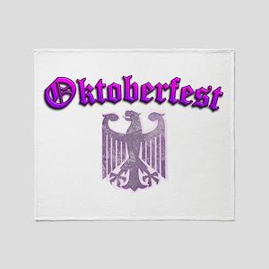 Oktoberfest German Deutsch W Throw Blanket