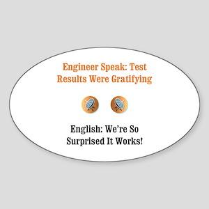 Test Results Oval Sticker
