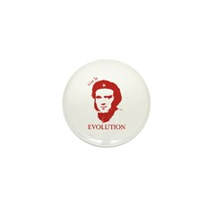 Viva Darwin Evolution! Mini Button (10 pack)