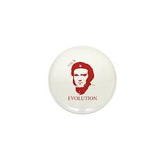 Viva Darwin Evolution! Mini Button (100 pack)