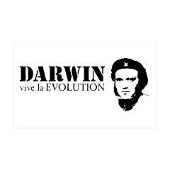 Viva Darwin Evolution! 38.5 x 24.5 Wall Peel