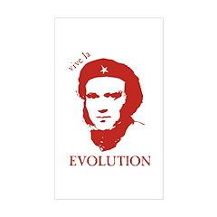 Viva Darwin Evolution! Sticker (Rectangle)