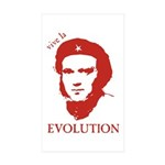 Viva Darwin Evolution! Sticker (Rectangle 50 pk)