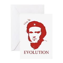 Viva Darwin Evolution! Greeting Card
