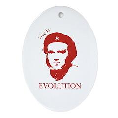 Viva Darwin Evolution! Ornament (Oval)