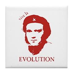 Viva Darwin Evolution! Tile Coaster