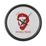 Viva Darwin Evolution! Large Wall Clock