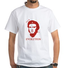 Viva Darwin Evolution! White T-Shirt