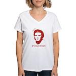 Viva Darwin Evolution! Women's V-Neck T-Shirt