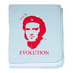 Viva Darwin Evolution! baby blanket