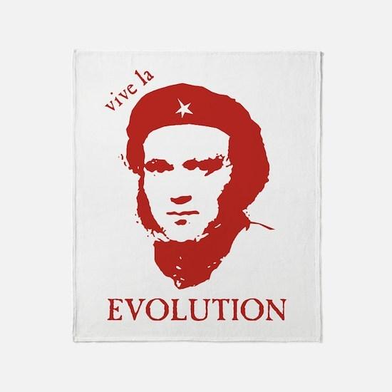 Viva Darwin Evolution! Throw Blanket