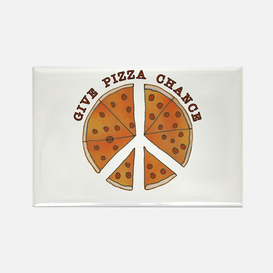 Give Pizza Chance Rectangle Magnet