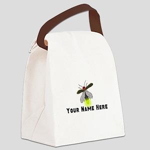 Lightning Bug Fun Canvas Lunch Bag