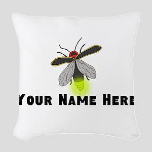 Lightning Bug Fun Woven Throw Pillow