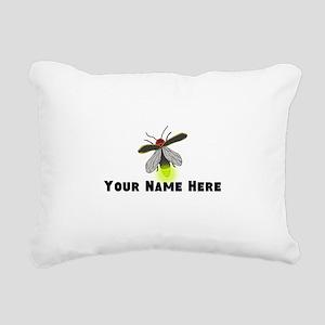 Lightning Bug Fun Rectangular Canvas Pillow