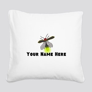 Lightning Bug Fun Square Canvas Pillow